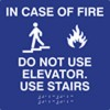 Fire Tactile and Braille Compliant Sign